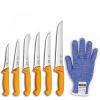 Swibo Messer-Set 6-teilig mit Schnittschutzhandschuh 2.0018.10