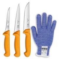 Swibo Messer-Set 3-teilig mit Schnittschutzhandschuh 2.0018.7